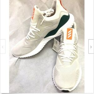 Adidas Mens Alphabounce Beyond White Running Shoes